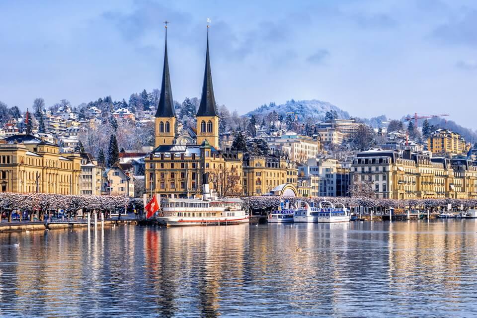 Vẻ đẹp Thụy Sĩ vào mùa đông