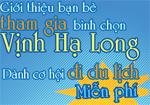 Giới thiệu bình chọn Hạ Long để có cơ hội du lịch miễn phí