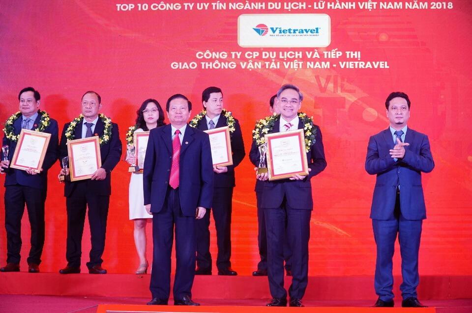 Vietravel tiếp tục đứng đầu Top 10 Công ty Du lịch - Lữ hành uy tín năm 2018